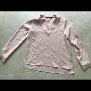 Zara Long Sleeve camisole blouse